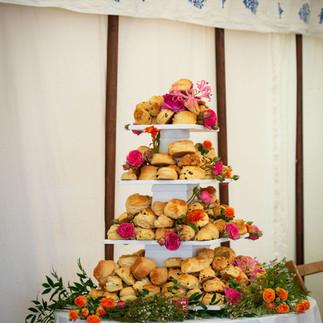 Cornish cream tea at Porthpean House wedding