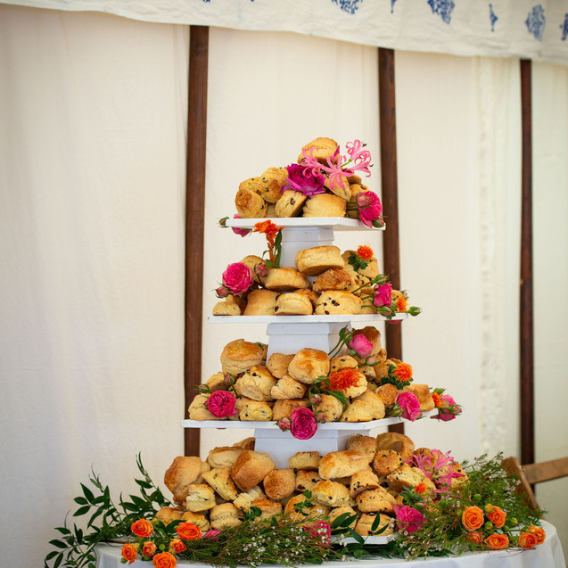 Cornish cream tea at Porthpean House wedding
