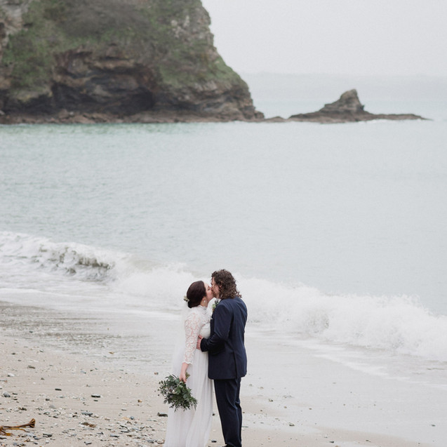 Small winter wedding venue by the sea, Porthpean House