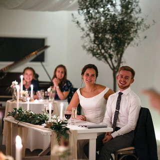 intimate wedding meal at Camel Studio