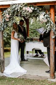 indoor and outdoor wedding ceremony