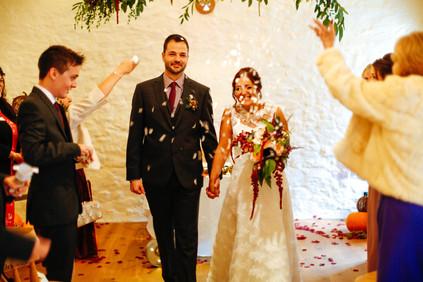 Courtyard barn wedding