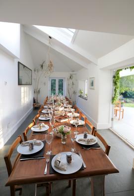 Wedding celebration meal at Treseren