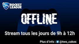 Bannière Twocakes Twitch Offline par Cor