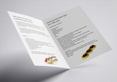 Brochure A4 2 volets internes recettes M