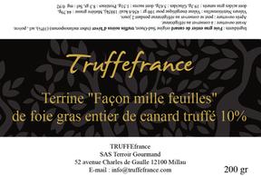 Etiquette Millefeuille de foie gras truf