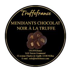 Etiquette mendiants chocolat truffés Cor