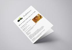 Brochure A4 2 volets couverture recettes