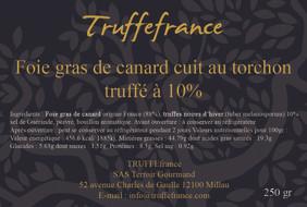Etiquette Foie gras truffé au torchon pa