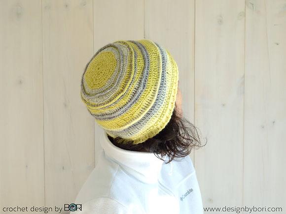 yellow crochet hat pattern