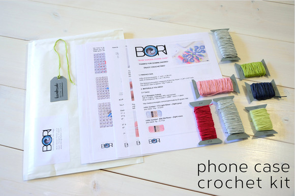 Rose Garden - phone case - crochet DIY kit is ready!