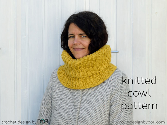 Mustard Cowl - new knitting pattern