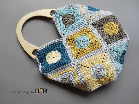 Handmade crochet bag pattern.