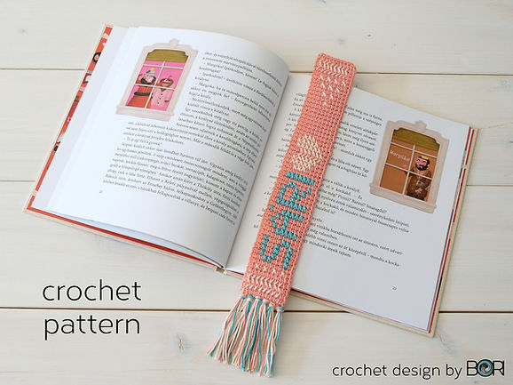 crochet name bookmark pattern