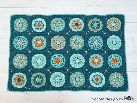 mandala crochet baby blanket pattern