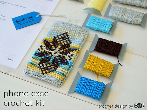 phone case crochet diy kit