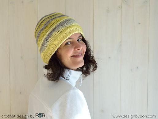 crocheted easy hat pattern