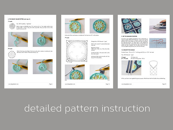 crochet tote pattern pdf instruction