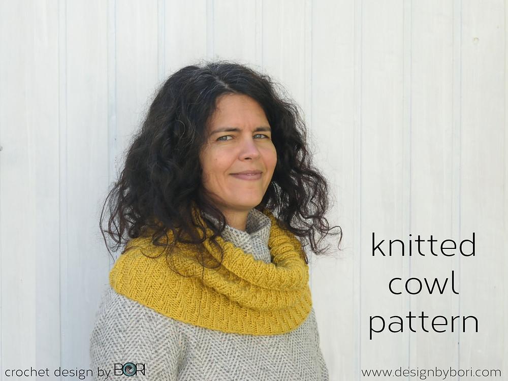 mustard cowl - knitting pattern