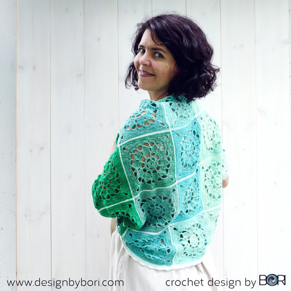 My Peppermint Shawl pattern is ready!