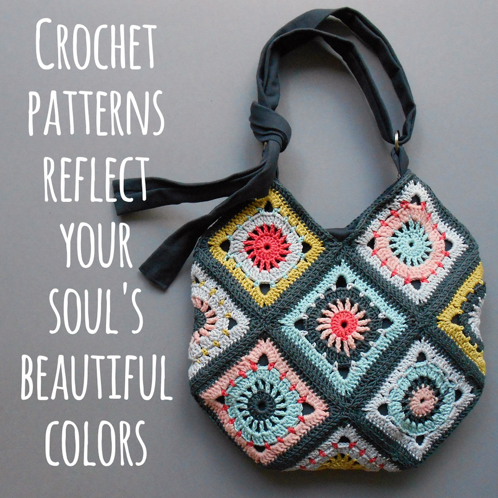 colorful crochet pattern