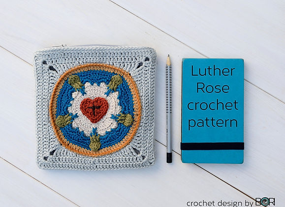 crocheted luther rose pattern