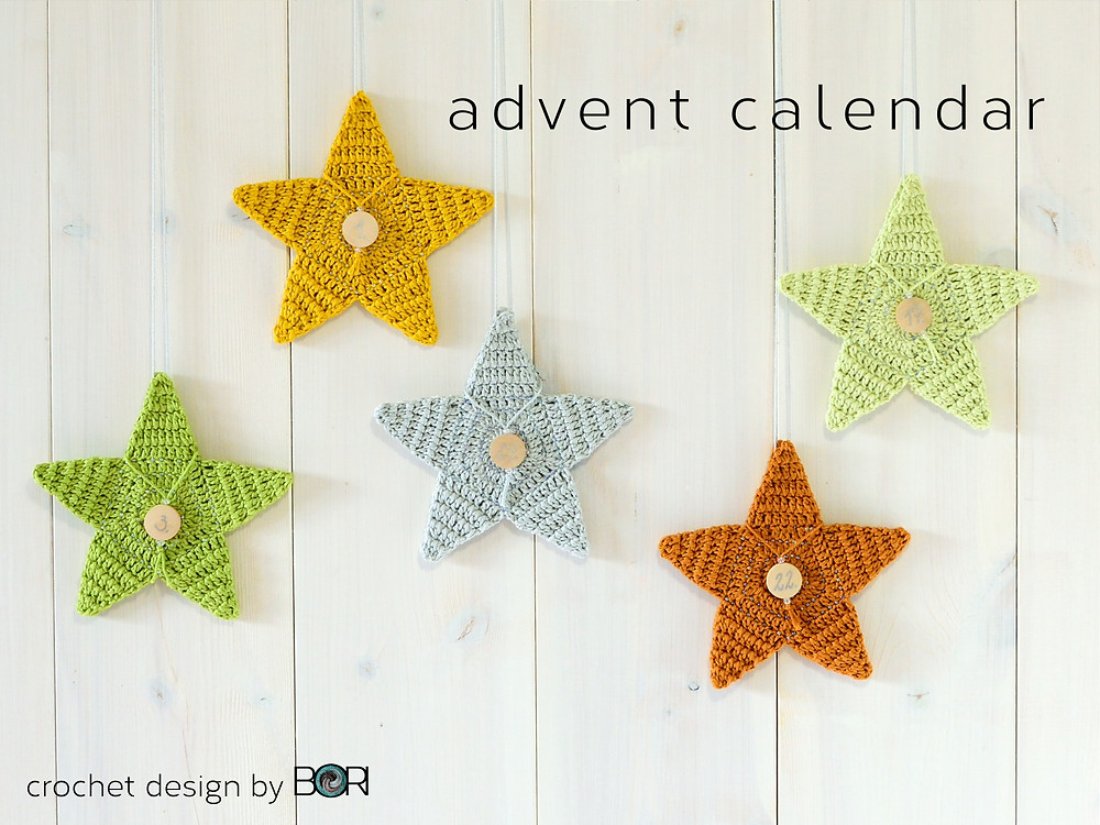 Crocheted Advent Star Calendar pattern