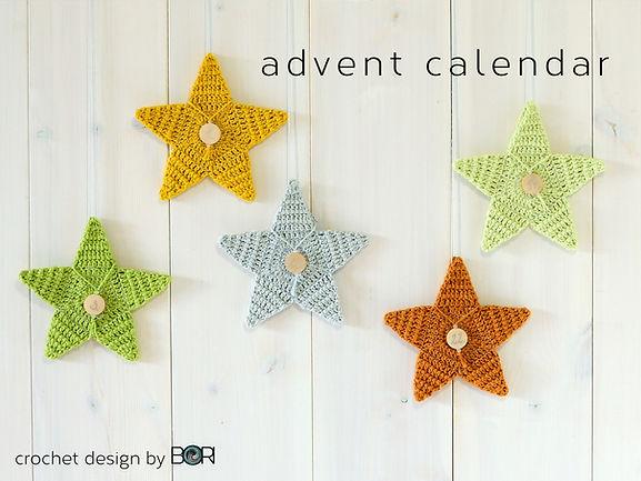 crochet advent calendar case pattern