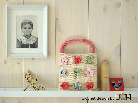 Handmade crochet  handbag pattern.