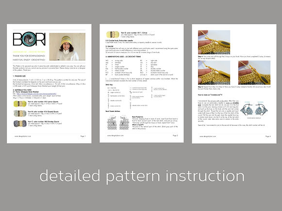 crochet hat pattern description pdf
