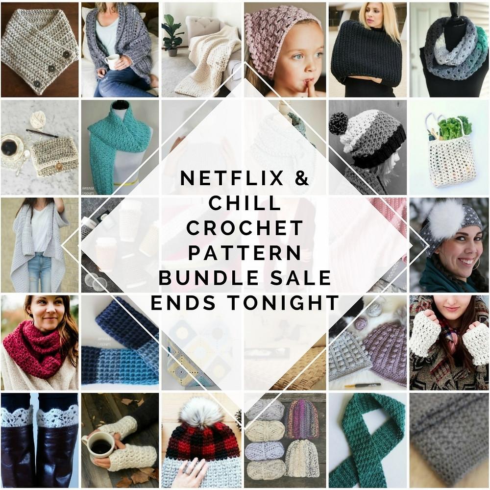 netflix and chill crochet pattern bundle