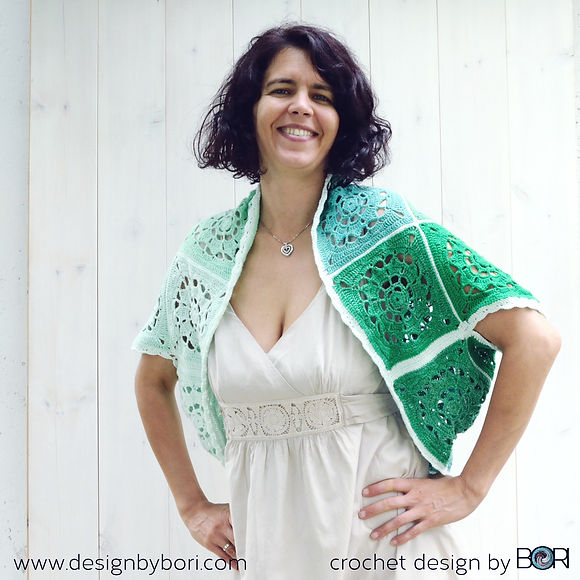 crocheted granny square bolero pattern