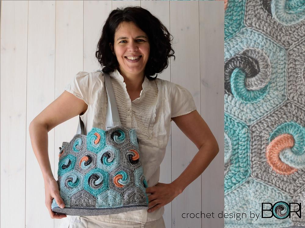 crochet hexa bag pattern by BORI