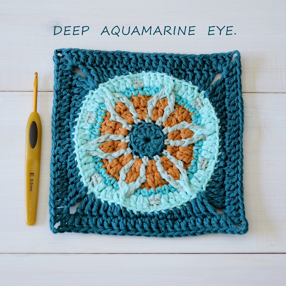 crocheted eye square