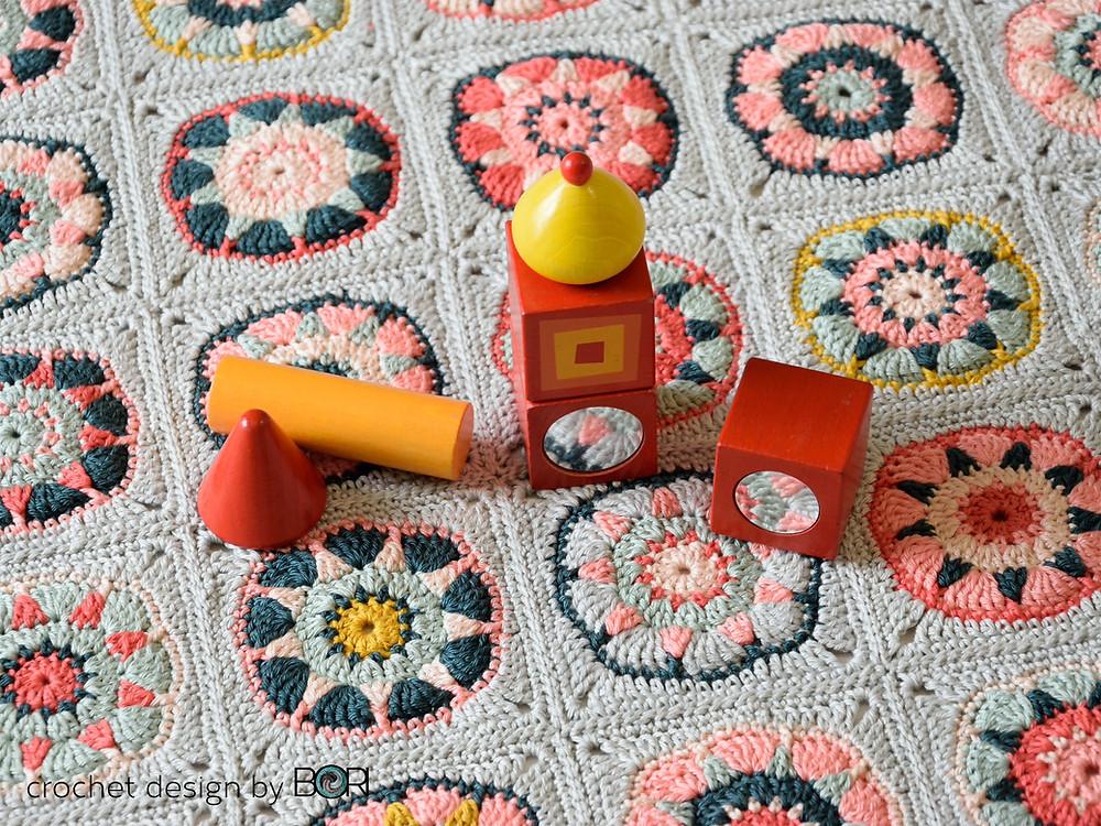crochet baby blanket granny square pattern