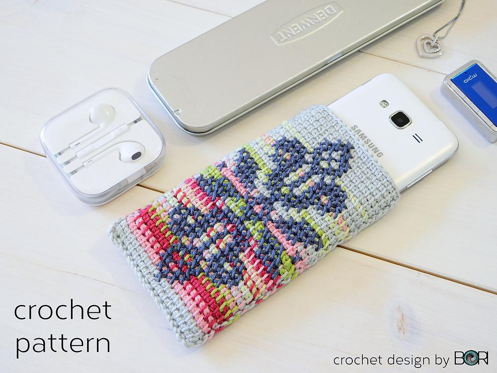 crocheted phone case pattern