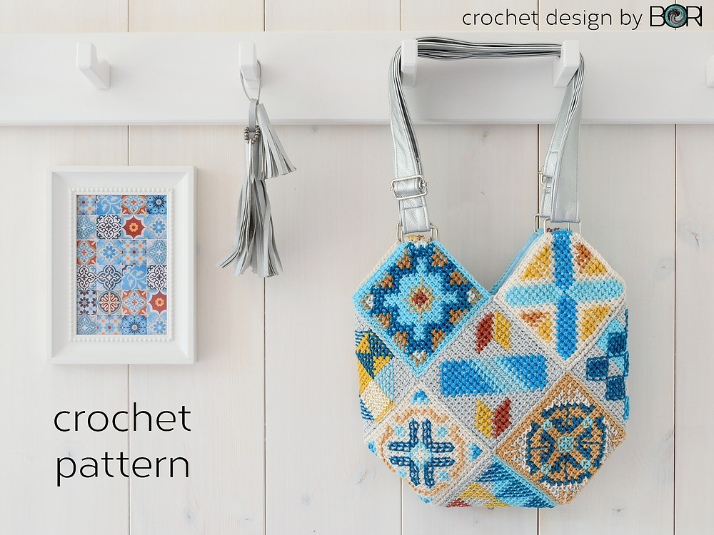 crochet hexa bag pattern by BORI