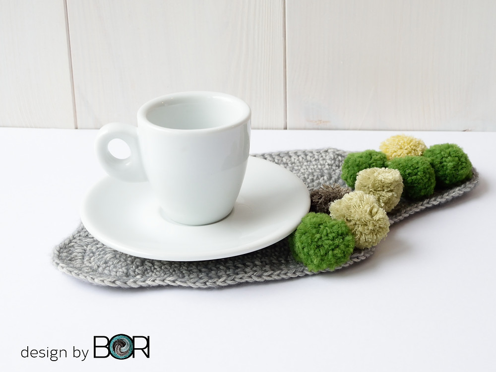 mossy oak - crochet coffee placemat pattern