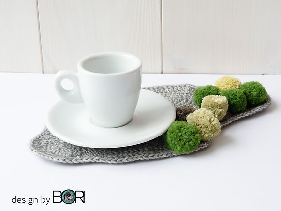 crochet coffee placemat