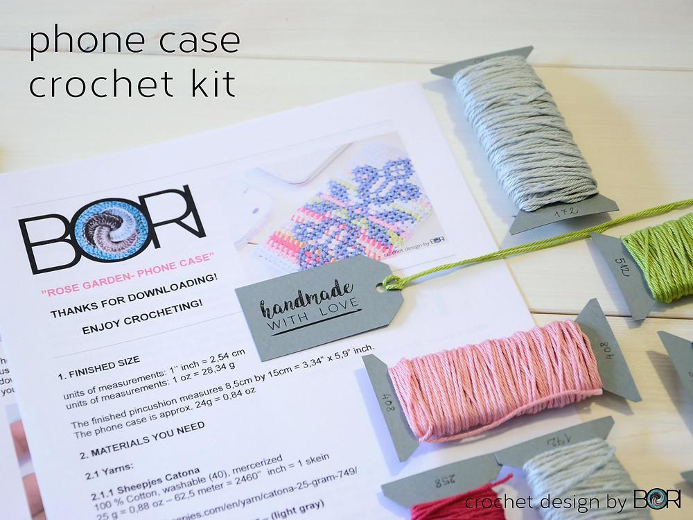 phone case diy crochet kit
