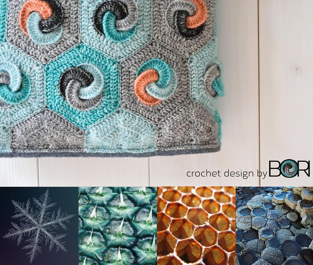 hexagonal crochet granny square pattern