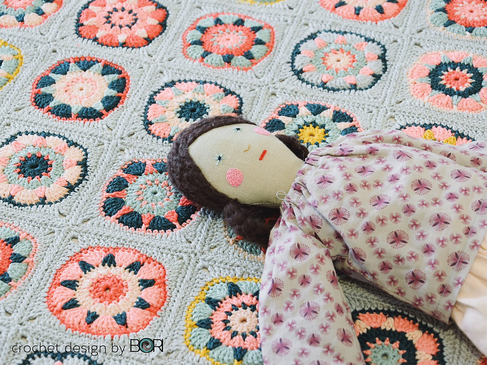 baby girl blanket with dress up doll