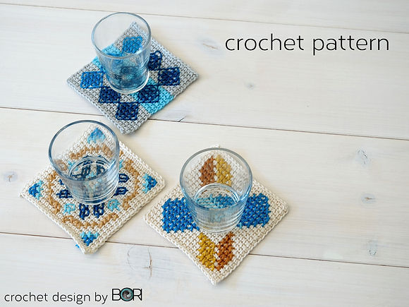 crochet coffee placemat pattern