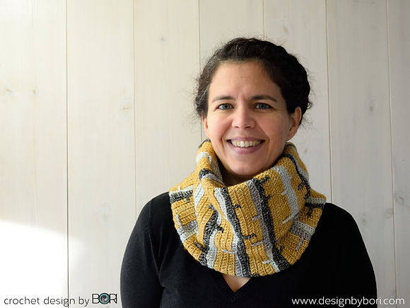 crochet unisex winter cowl pattern