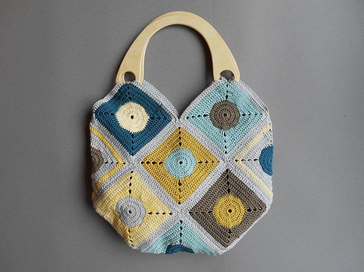 Pastel Granny Square Bag - 002