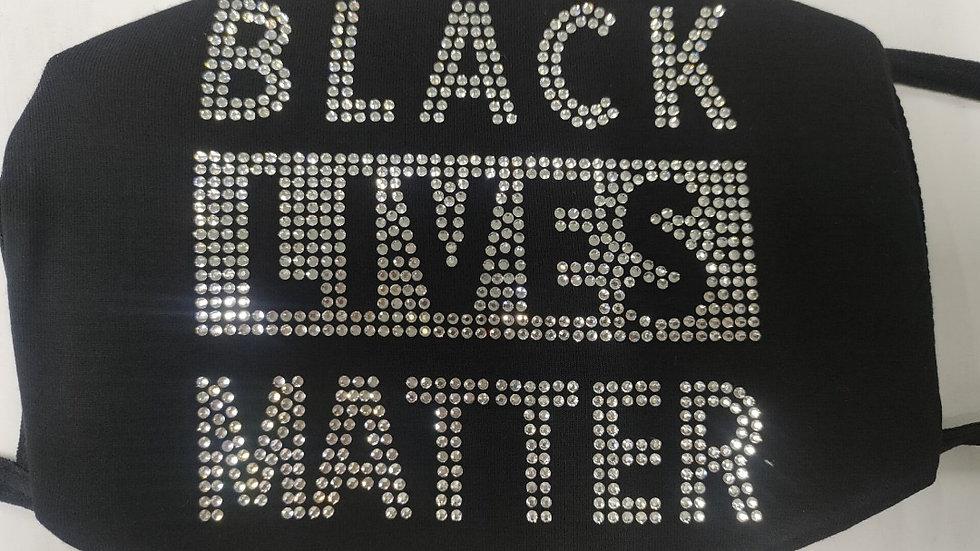 Black Lives Matter Bling Mask