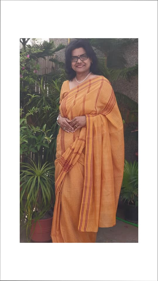A Handloom Gamcha Saree From South India only at www.indianartizans.com