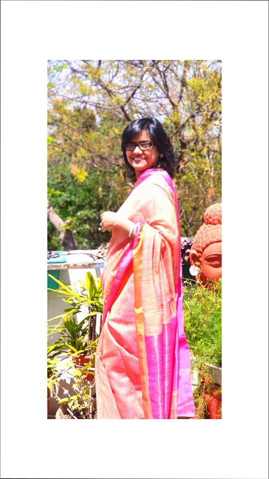 Pink Ghicha Saree of Bihar from www.indianartizans.com