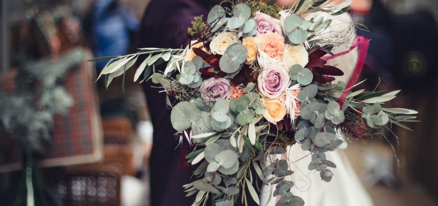 Bouquet de mariée, mariage bohême