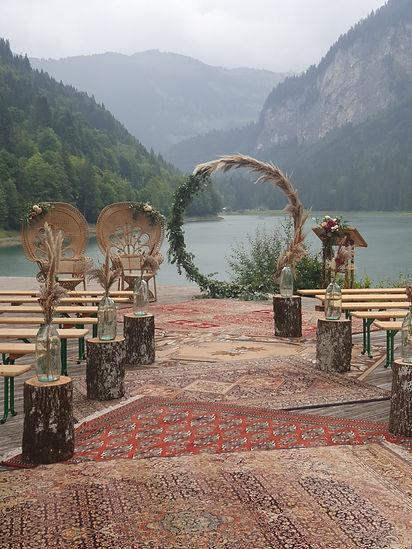 Cérémonie laïque mariage bohême